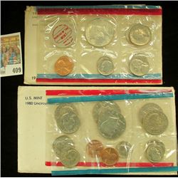 1970 & 1980 U.S. Mint Sets, both original as issued.