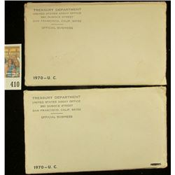 (2) 1970 U.S. Mint Sets, both original as issued. Neither have ever been unsealed.