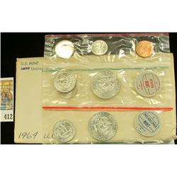 1964 P & D U.S. Mint Set, Original as issued in envelope and cellophane.