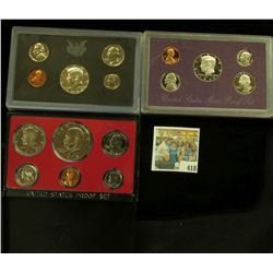1970 S U.S. Silver Proof Set, 1973 S & 90 S U.S. Proof Sets, all original as issued.