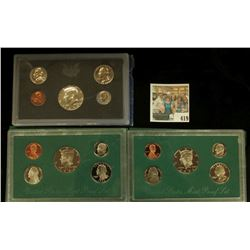 1970 S U.S. Silver Proof Set, 1994 S & 96 S U.S. Proof Sets, all original as issued.