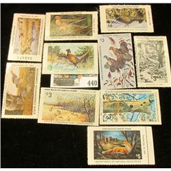 Large Group of Iowa Wildlife Habitat Stamps all Hunter signed. Includes 1979, 80, 81, 82, 83, 88, 91