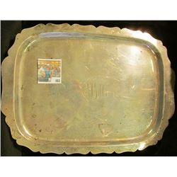 Part of the Estate of the John Morrell Family, of John Morrell Meat's fame. This serving plate is li