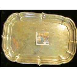 Part of the Estate of the John Morrell Family, of John Morrell Meat's fame. This Serving tray is lig