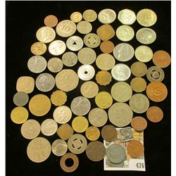 Large Group of various Foreign Coins and Tokens, which I did not have time to sort.