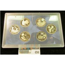 2009 S United States Mint District of Columbia & U.S. Territories Quarters Proof Set. (5 pieces).