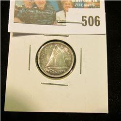 1952 Canada Silver Dime, BU.