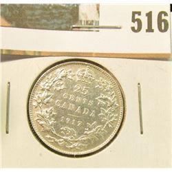 1917 Canada Silver Quarter, UNC.