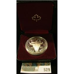 1982 Royal Canadian Mint (RCM) Silver dollar - proof, Regina