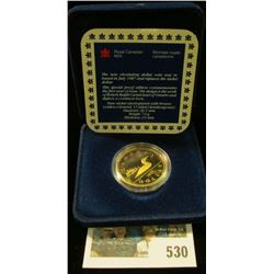 1987 Royal Canadian Mint (RCM) Proof Loon Dollar.
