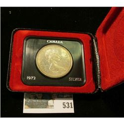 1972 Royal Canadian Mint (RCM) Silver Dollar.
