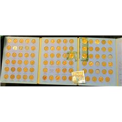 1941-73 Nearly Complete Set of U.S. Lincoln Cents in a Whitman folder.
