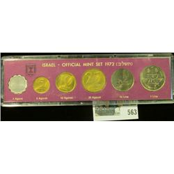 1972 Coins of Israel Official Mint Set in original box of issue.