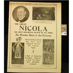 """The Great Nicola The Most Delightful Mystic of All Times The Wonder Show of the Universe…Nicola's A"
