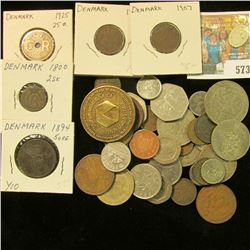 (5) Denmark Coins dating back to 1800 and valued at $31.00; State of Washington Cigarette Tax Stamp;