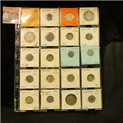(20) Various Denmark & Panama Coins dating back to 1813, includes lots of Silver. Priced to sell at