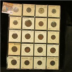 (20) Various Denmark Coins dating back to 1874. Priced to sell at over $90.
