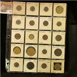 (20) Various Denmark Coins dating back to 1856. Priced to sell at over $100.