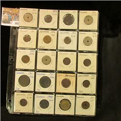 (20) Various Denmark Coins dating back to 1852. Priced to sell at over $80.