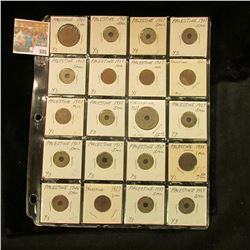 (20) Various Palestine Coins in a plastic page dating back to 1927 and priced to sell at over $50.00