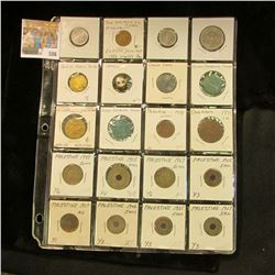 (20) Mixed Foreign Coins, Tokens, and miscellaneous dating back to 1771. Priced by Doc to sell at ov