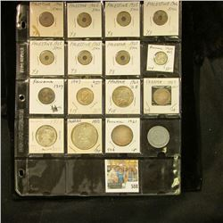 (15) Panama & Palestine Coins, plus a Readers Digest Token. Lots of Silver in this group. Doc valued