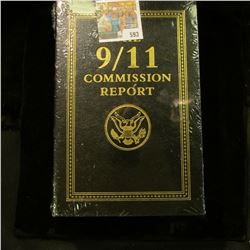 "Genuine Leather Bound Book with Gold Trim ""The 9/11 Commission Report By The National Commission on"