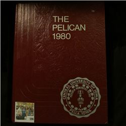 """The Pelican 1980 Central University of Iowa"", hardbound with Gold lettering. 240 pgs."