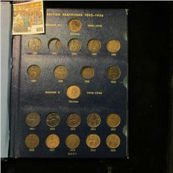 BRITISH FARTHING COLLECTION STARTING WITH 1902.  THE 1903 AND 1909 ARE THE ONLY COINS MISSING