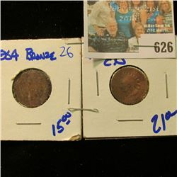1859-CN & 1864 BRONZE INDIAN HEAD CENTS