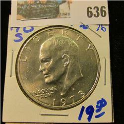 1973-S 40 PERCENT SILVER IKE DOLLAR