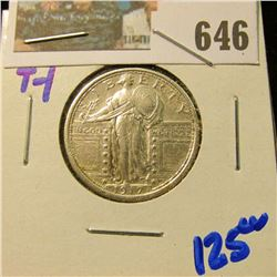 HIGH GRADE 1917 TYPE 1 Standing LIBERTY QUARTER