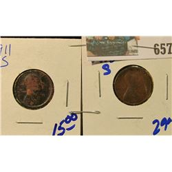 1911-S & 1915-S WHEAT CENTS