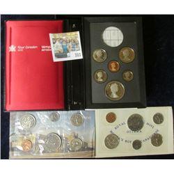 1975 CANADIAN MINT SET, 1972 CANADIAN MINT SET, & 1986 PROOF DOUBLE DOLLAR PROOF SET MINUS THE SILVE