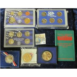 R& OM COIN LOT INCLUDES GEORGE WASHINGTON BICENTENNIAL MEDAL, AMERICAN BUILDING & LOAN ASSOCIATION D
