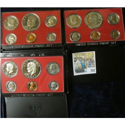 1975, 1976, & 1977 PROOF SETS IN ORIGINAL GOVERNMENT PACKAGING