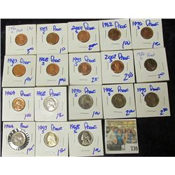 PROOF LINCOLN MEMORIAL CENTS & JEFFERSON NICKELS