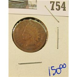 1870 KEY DATE INDIAN HEAD CENT