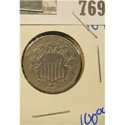 1866 SHIELD NICKELS WITH RAYS