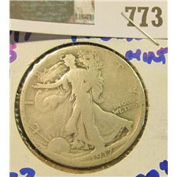 1917-S REVERSE MINT MARK WALKING LIBERTY HALF DOLLAR