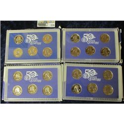 1999-2002 PROOF STATE QUARTER SETS.  THERE ARE A TOTAL OF 20 PROOF STATE QUARTERS