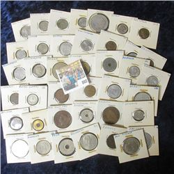 (40) CARDED FOREIGN COIN LOT FROM AROUND THE WORLD