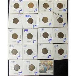 (18) INDIAN HEAD CENTS ALL FOR ONE MONEY