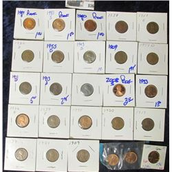 WHEAT & MEMORIAL CENT LOT.  THERE ARE LOTS OF PROOF COINS IN THIS ONE
