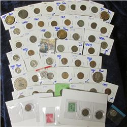 HODGEPODGE LOT INCLUDES PROOF COINS, INDIAN HEAD CENTS, V NICKELS, WHEAT CENTS, & MORE