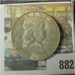 1952 S Original BU Toned Franklin Half Dollar.