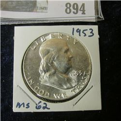 1953 P Gem BU Franklin Half Dollar.