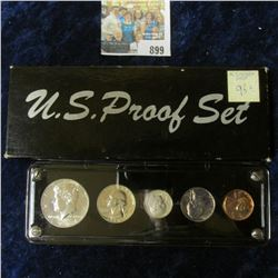1964 PROOF SET IN A PLASTIC SCREW DOWN HOLDER