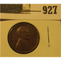 927 _ 1922 D Lincoln Cent, VF+.