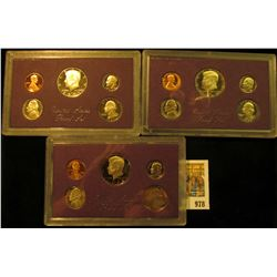 978 _ 1984 S, 86 S & 1987 S U.S. Proof Sets, original as issued.
